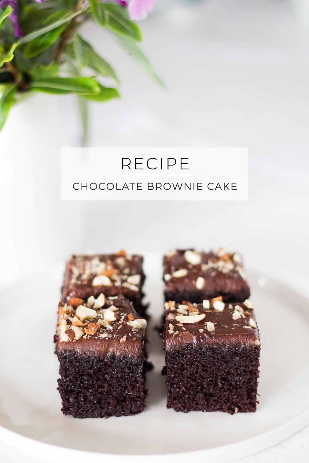 Never-fail (cakey) chocolate brownies // recipe