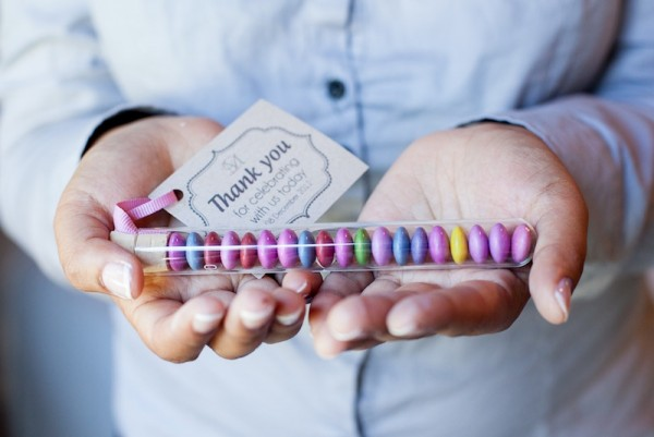Test tube wedding favour - free border download