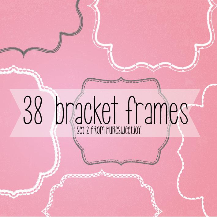 Pink Bracket Frame Clipart