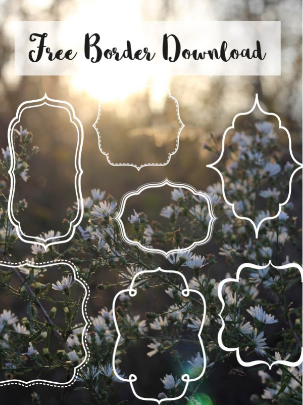 free borders and bracket frames download pure sweet joy