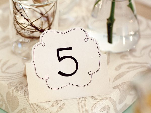Make these fun DIY table numbers for your wedding