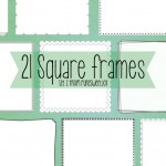 Square frame borders