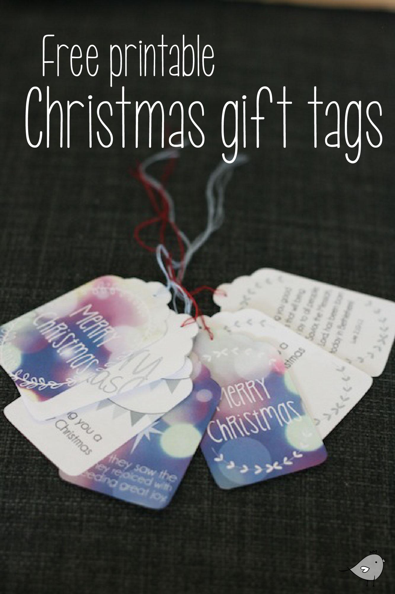 Printable christmas gift tags // Free download