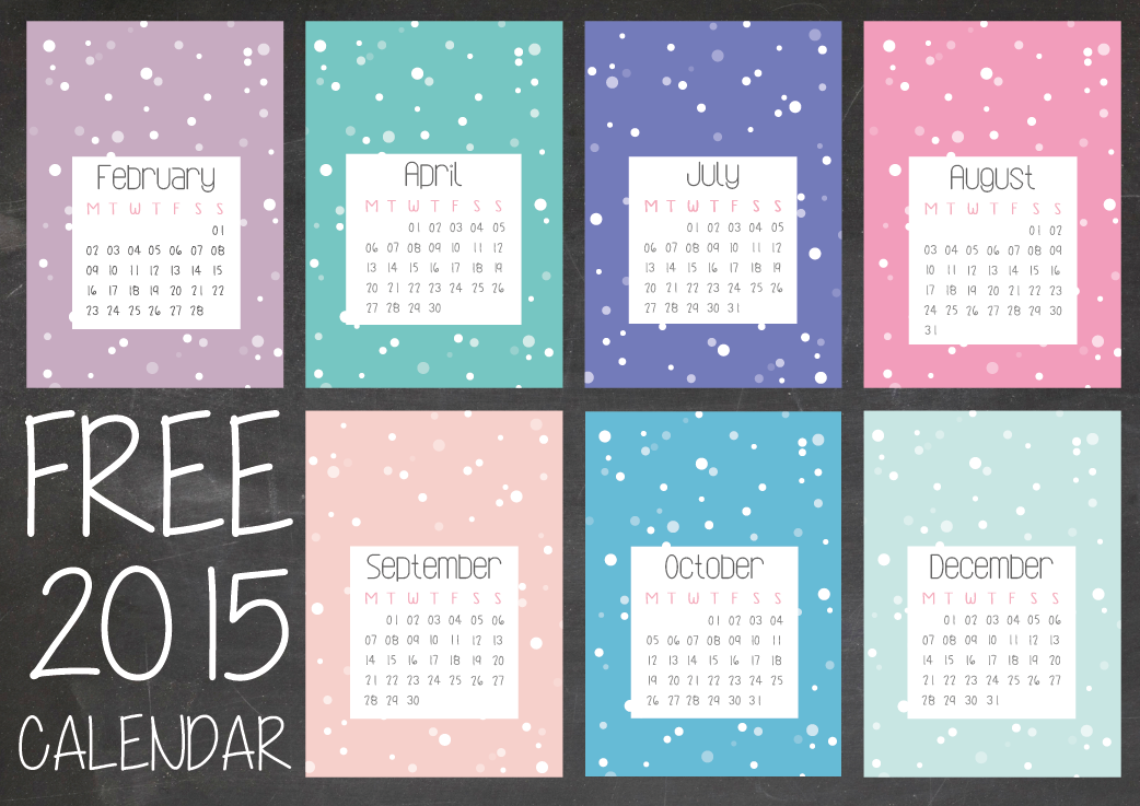 2015 free printable calendar download -01