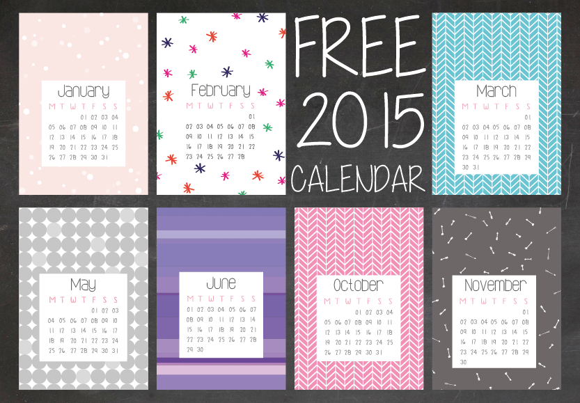 2015 calendar // free download