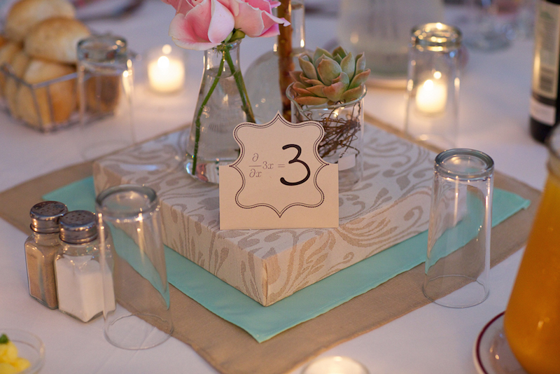 Table numbers | Science theme wedding