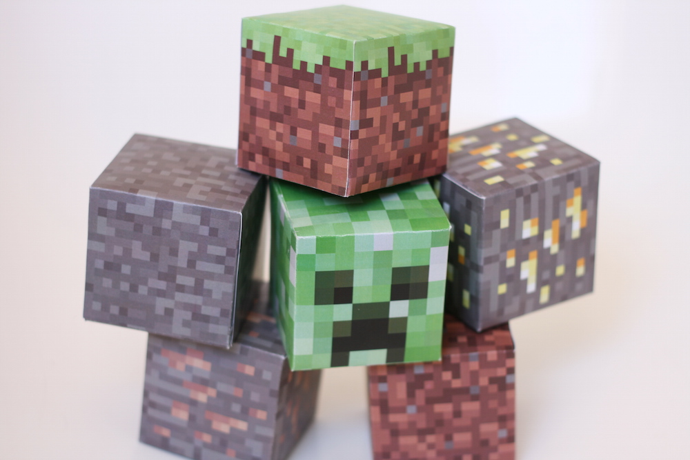 photo about Minecraft Printable Pictures called Printable Minecraft blocks // Absolutely free Obtain - Organic Cute Contentment