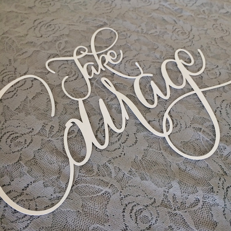 Die cut quote - Silhouette Cameo | Pure Sweet Joy