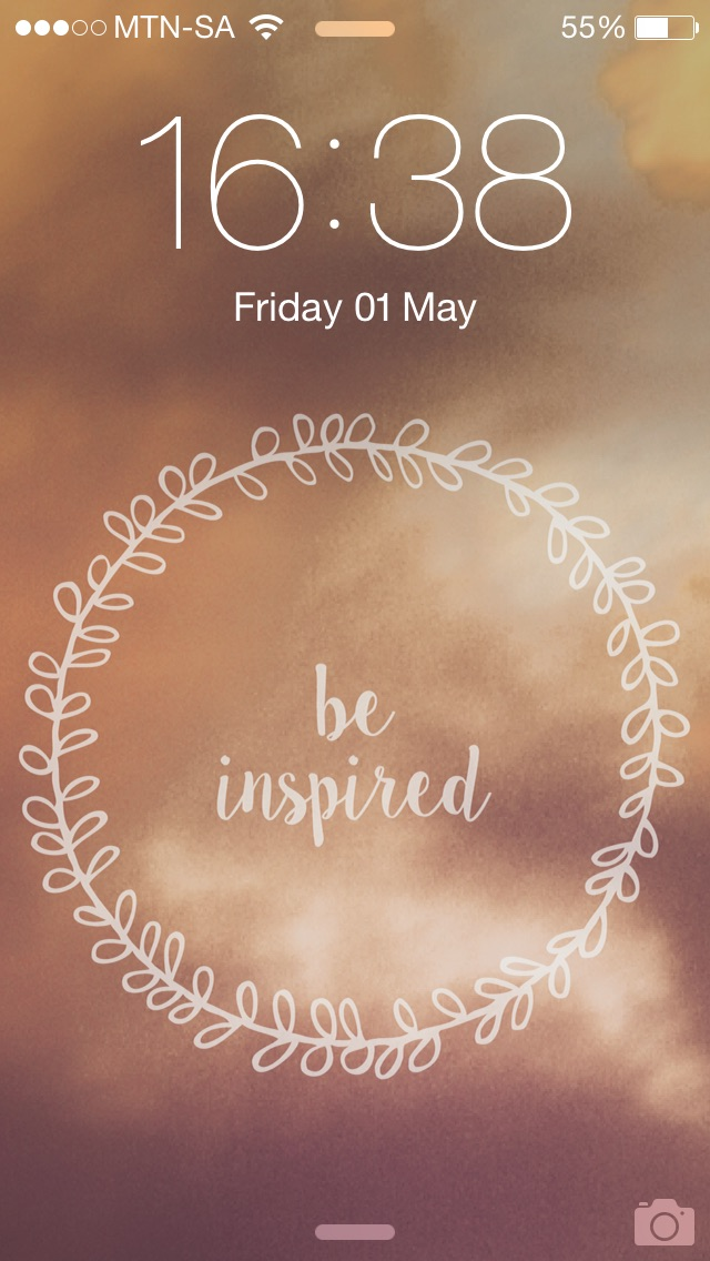 Be inspired Iphone wallpaper