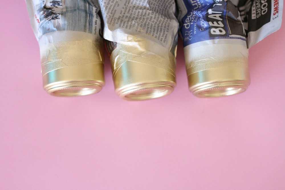 Gold jar spraypaint tutorial   Pure Sweet Joy