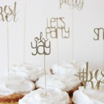 Elegant Birthday Cupcake Toppers