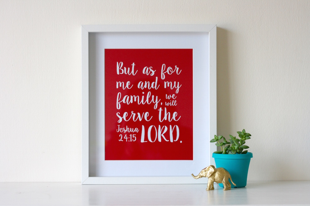 As for me and my family Print and Silhouette file // Free Download