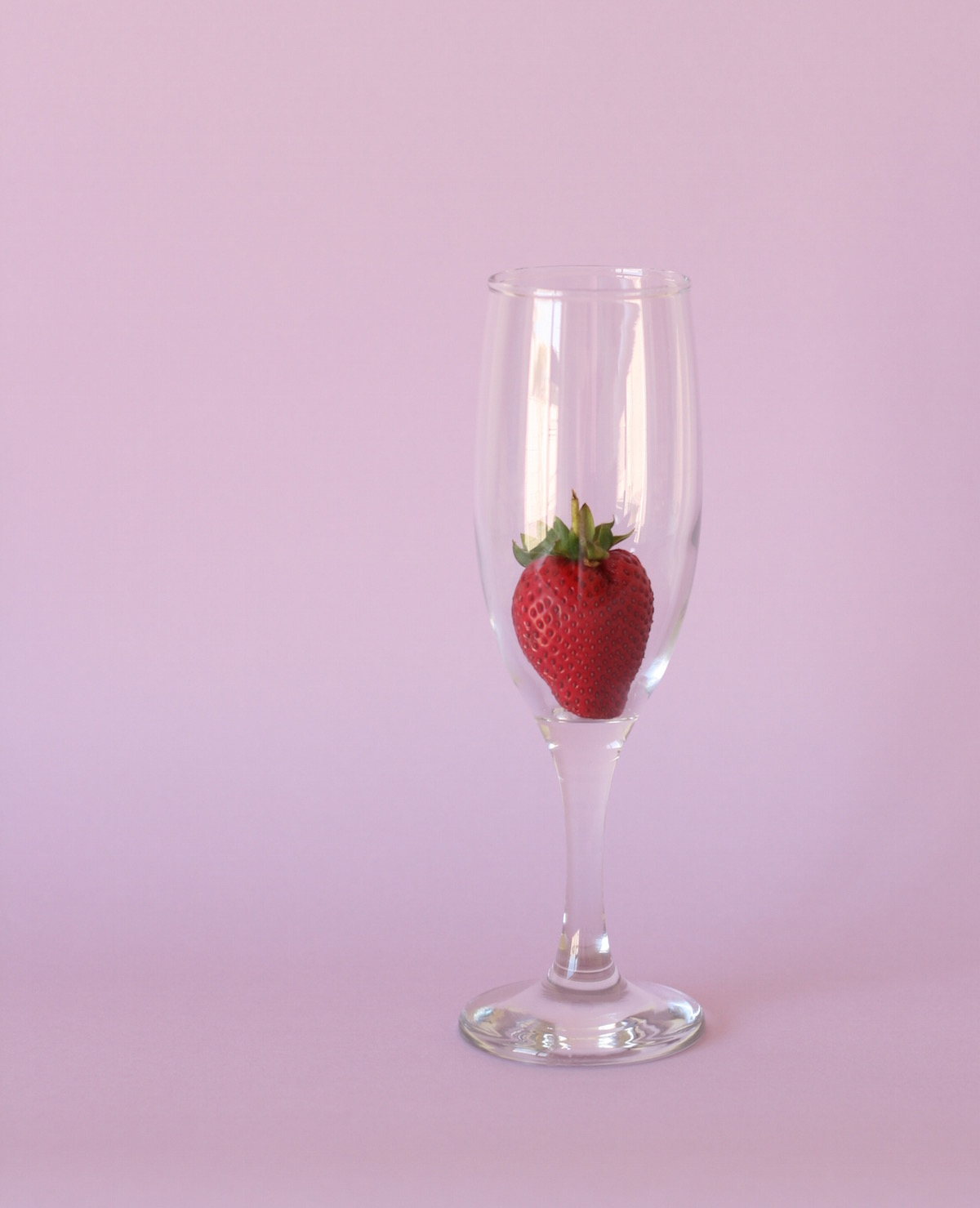 Strawberry in a champagne glass