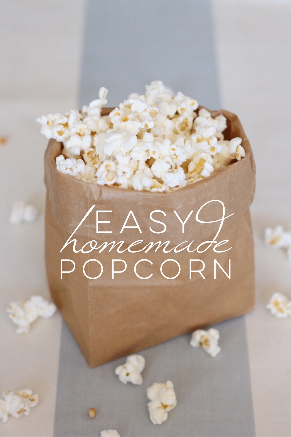 Easy healthy homemade popcorn