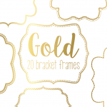 Gold Bracket Frame Border Download-04
