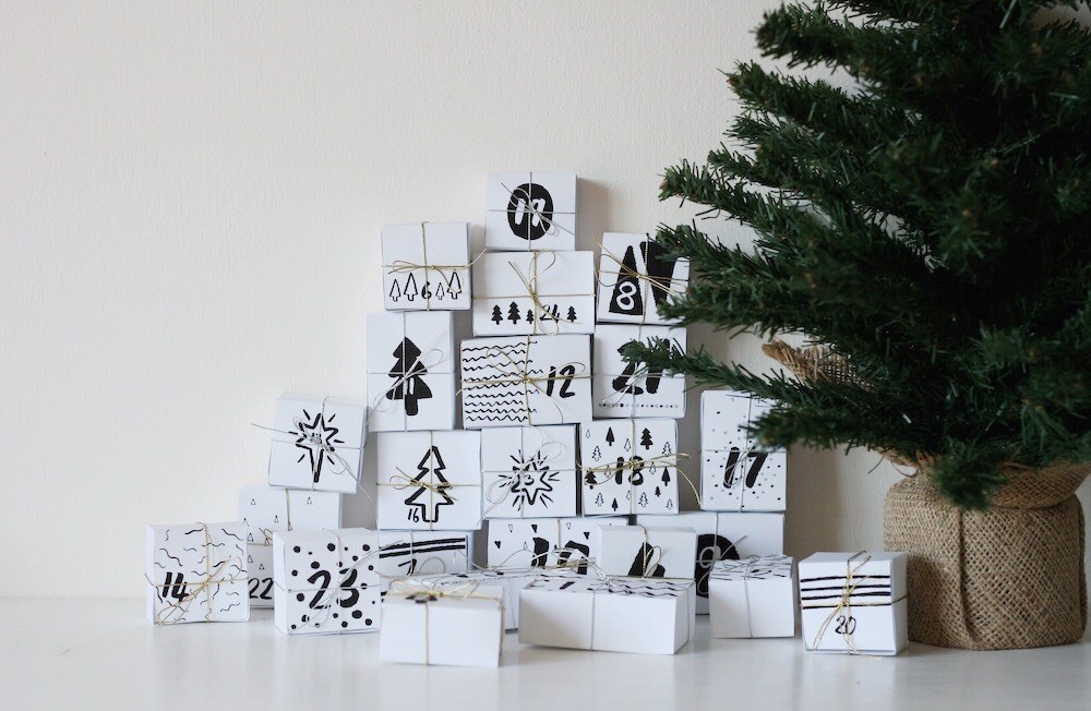 Homemade christmas advent calendar printable