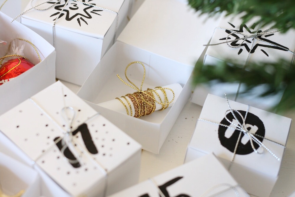 Personal advent calendar box