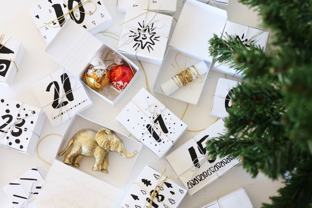 Advent calendar DIY printable // Free download