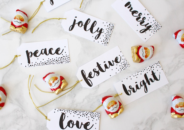 Free downlaodable holiday gift tags
