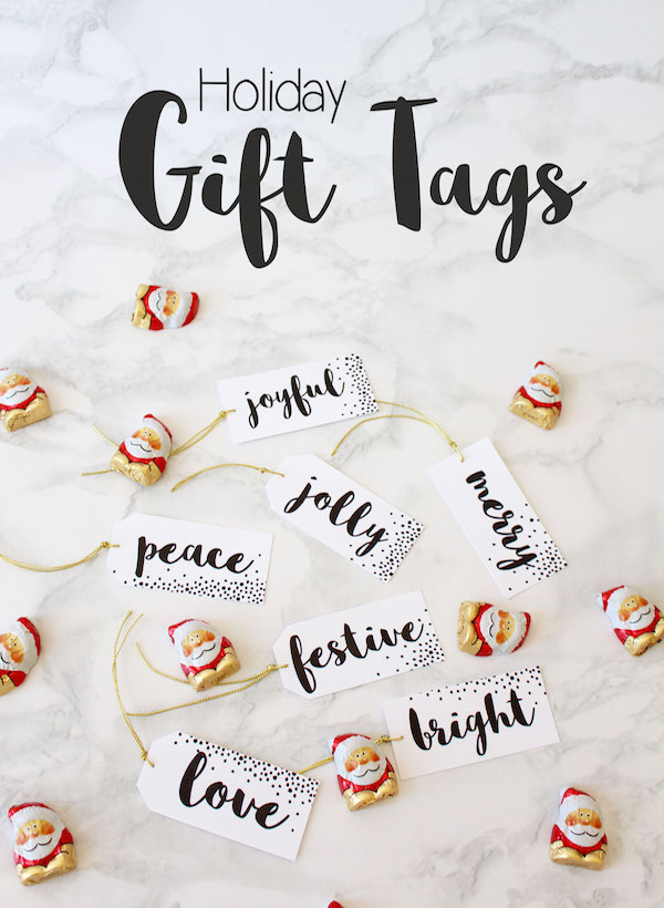 Holiday Gift tags // Free printable