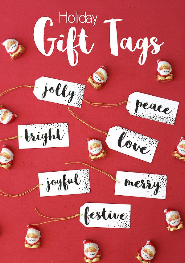 Holiday Gift tags printable main