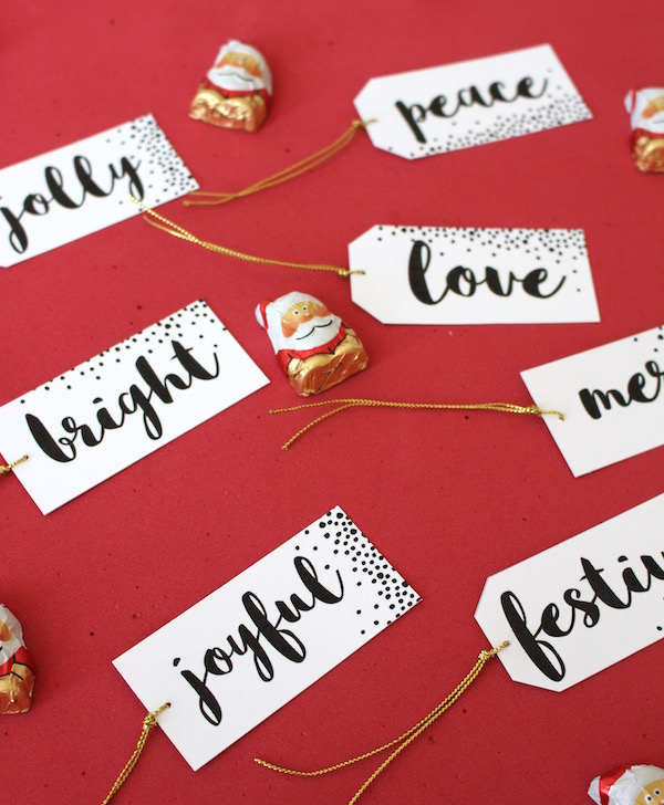 Holiday Gift tags printable