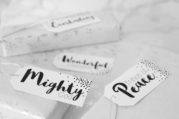 Names of Jesus Christmas Gift Tags