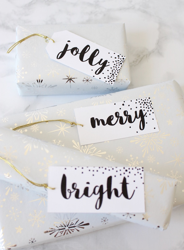 Holiday Gift Tags Printable // Free Download