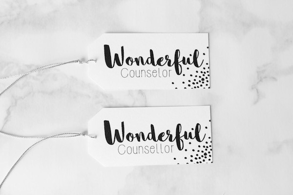 Wonderful Counselor Christmas Gift Tag