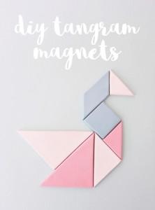 tangram magnet diy