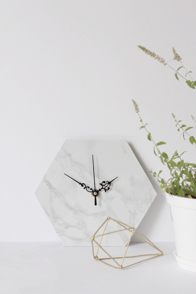 DIY Tutorial Marble Clock