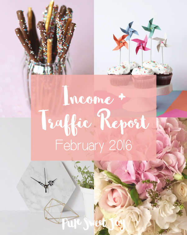 Income and Traffic Report – February 2016 // Blogging