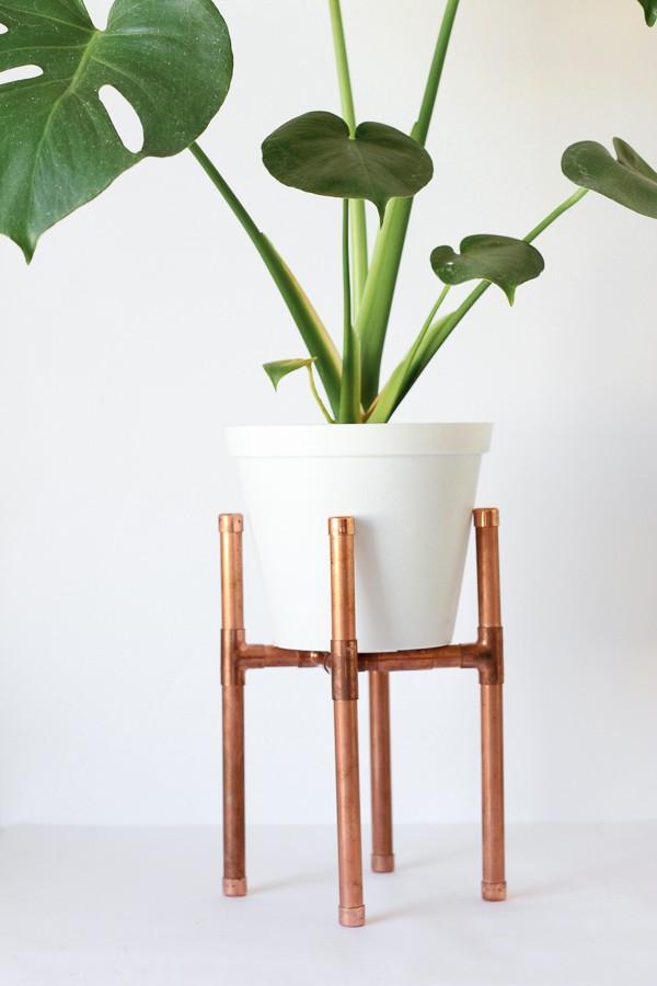 Raised Copper Pipe Pot Plant Stand DIY