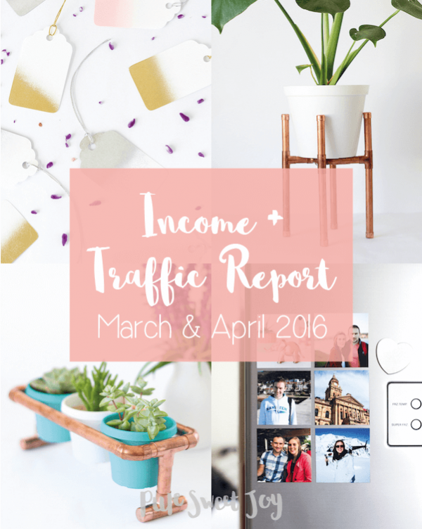 Income report March & April 2016