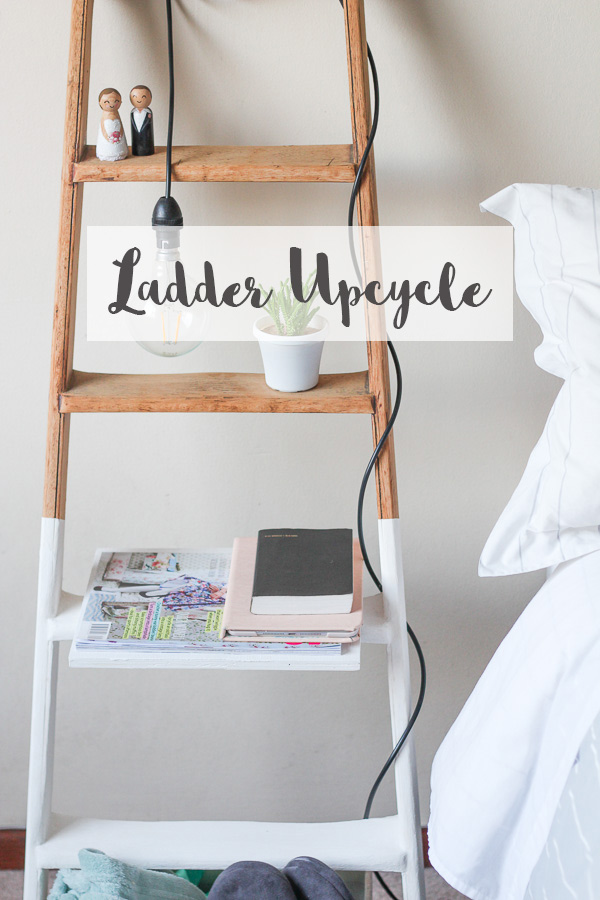 Bedside Ladder Upcycle // DIY