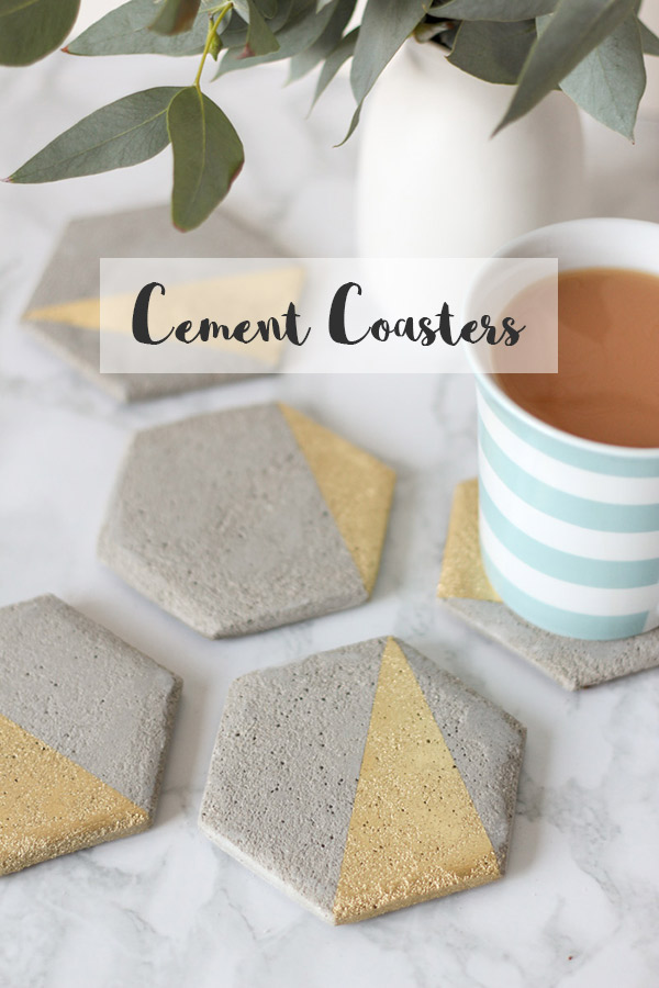 Hexagon Cement Coaster // DIY