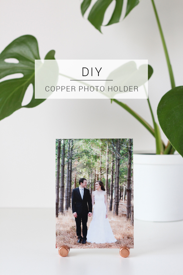 Use simple copper pieces to make your own DIY photo holder