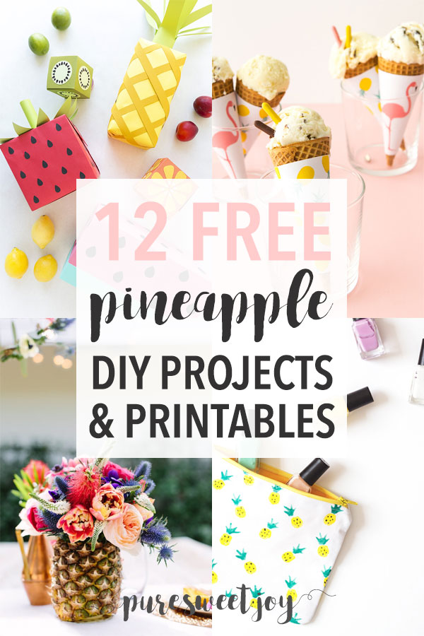 photograph relating to Free Printable Pineapple identify 12 Amazing Pineapple Do it yourself Initiatives Printables - Purely natural Lovable Contentment