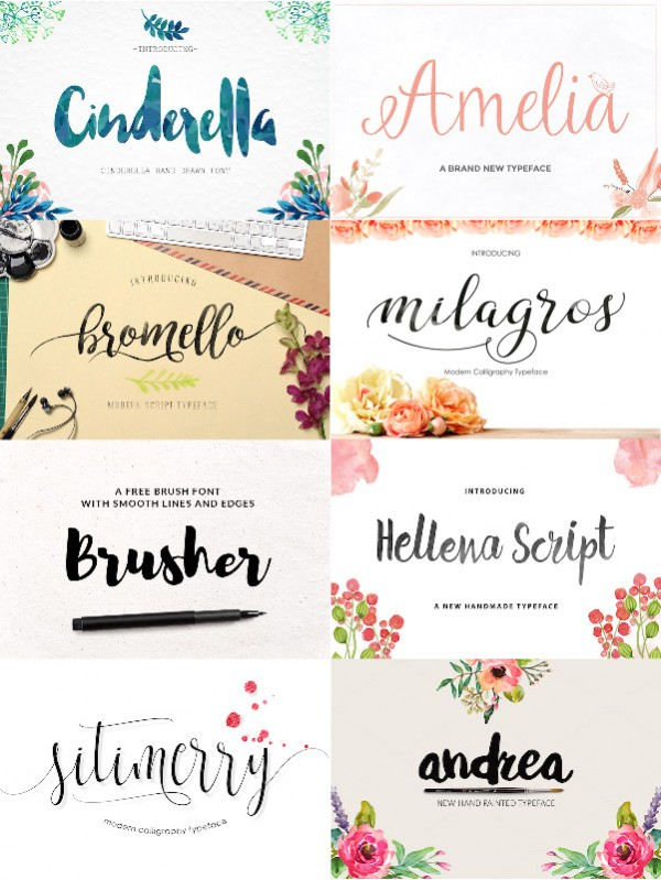 Brush fonts part 1