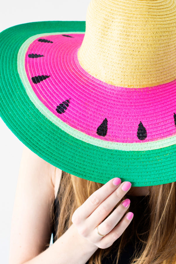 12 Lovely Free Watermelon DIY Projects & Printables, including this amazing hat // Pure Sweet Joy