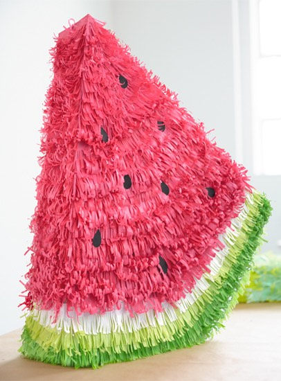 12 Lovely Free Watermelon DIY Projects & Printables, including this fun watermelon pinata // Pure Sweet Joy