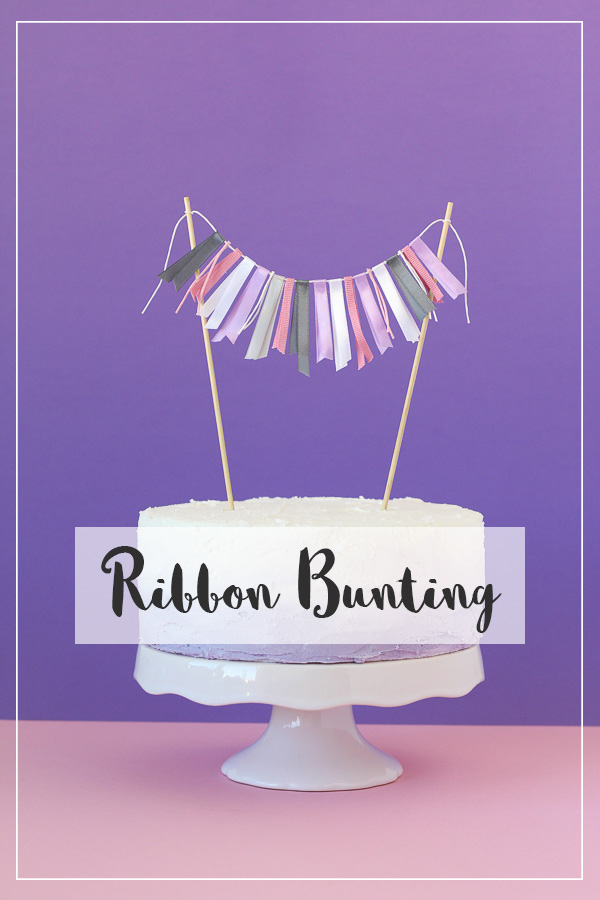 Girly Cake Topper Ribbon Bunting Tutorial // Pure Sweet Joy