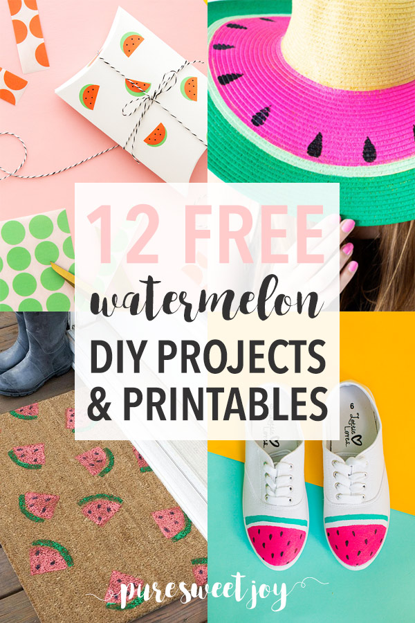 12 Lovely Watermelon DIY Projects & Printables // Pure Sweet Joy