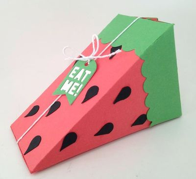 12 Lovely Free Watermelon DIY Projects & Printables, including this printable watermelon slice box // Pure Sweet Joy