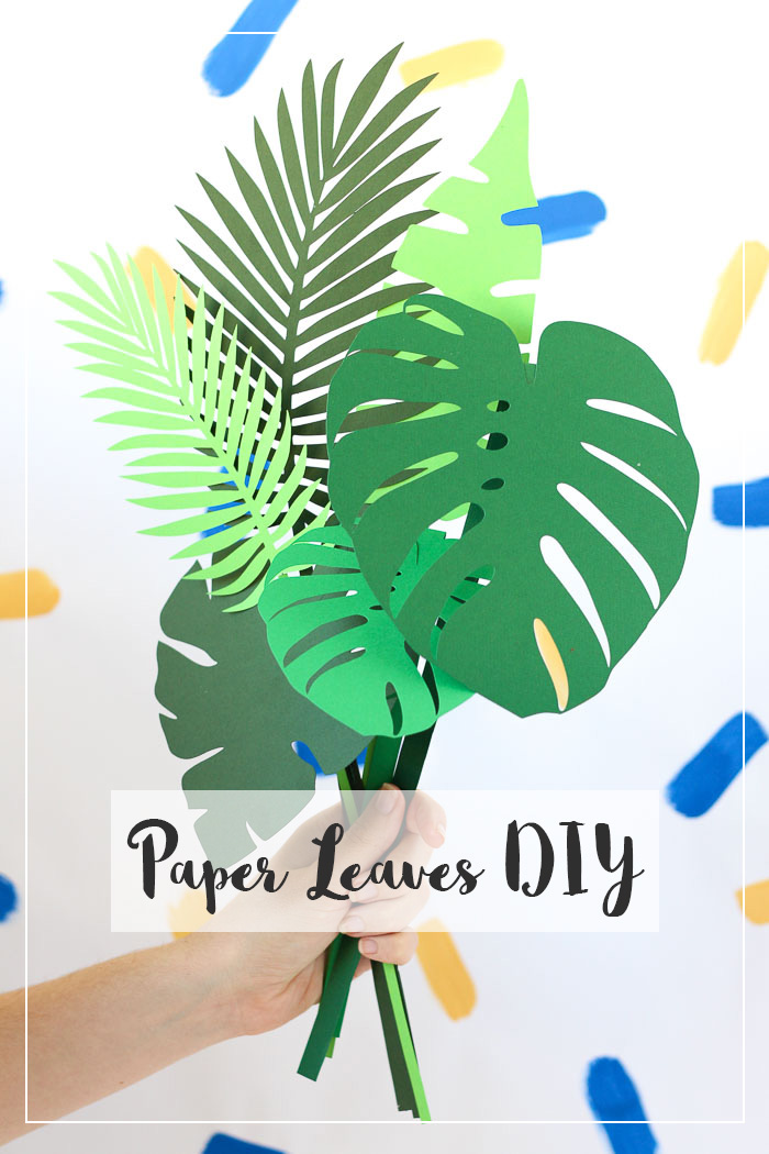 Need some greenery, but can't keep plants alive? Make your own with this easy DIY paper leaves tutorial