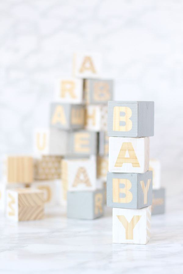 Baby Blocks DIY - Perfect craft activity for a baby shower