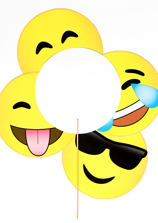 Exceptional image throughout printable emoji photo booth props