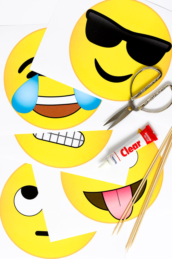 Sweet image pertaining to printable emoji photo booth props