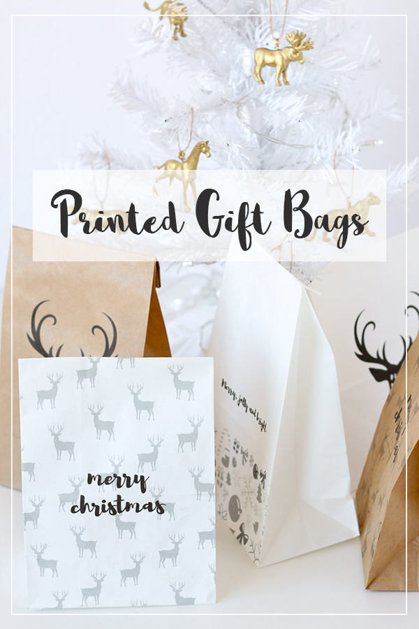 Printed gift bags to make your Christmas wrapping quick and easy!