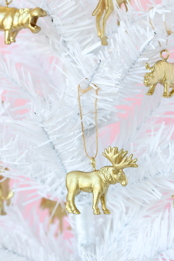 Animal Christmas Tree Decorations // DIY